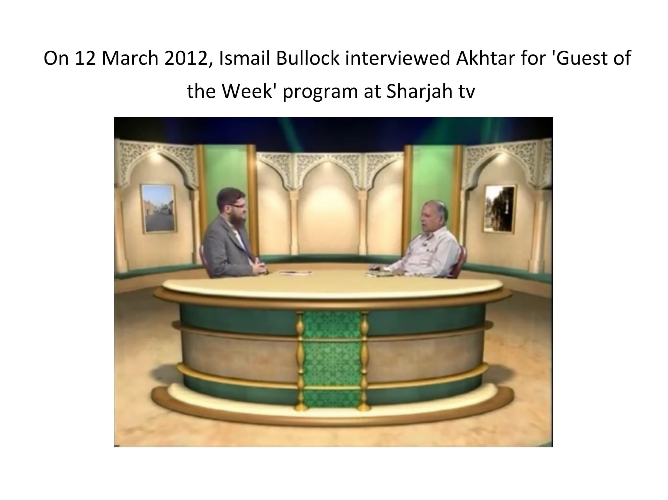 Interview at Sharjah tv